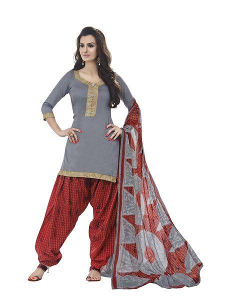8b84dc5252 Miraan Cotton Printed Unstitched Patiyala Dress Material Rani9007 ...