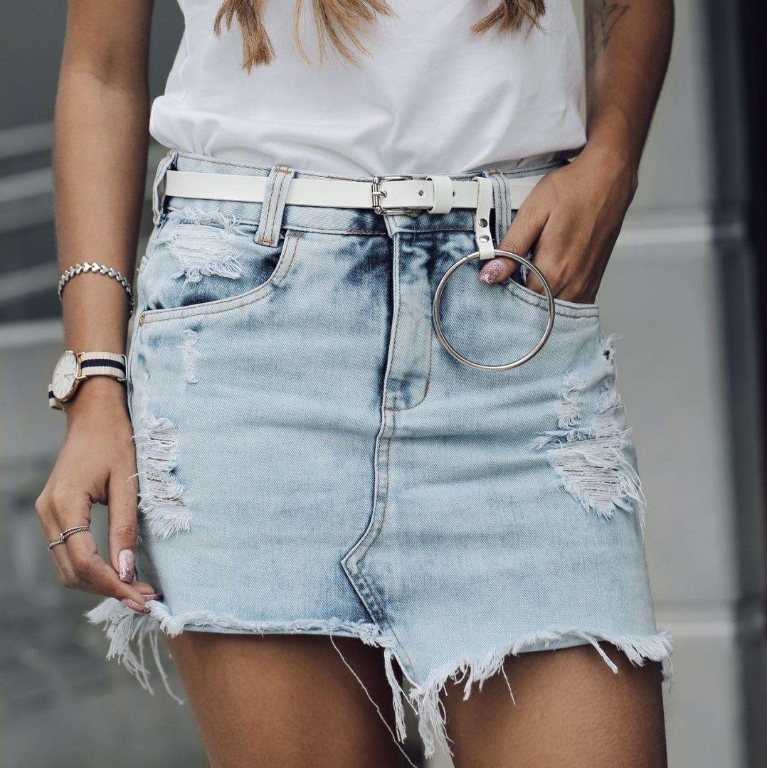 "a48333e399 Brytch Jeans ( brytchjeans) no Instagram  ""Trend alert  saia jeans  assimétrica desfiada  denim  usebrytch  brytchlovers  trend"""