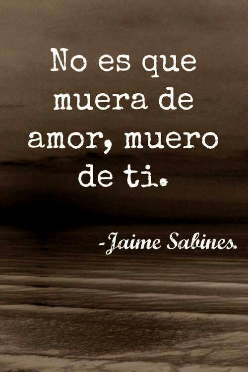 Frases De Jaime Sabines 1001 Frases De La Vida Love Quotes
