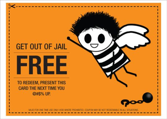 Get Out Of Jail Free Best Valentine S Day Gift Ever Card Templates Free Best Valentine S Day Gifts Card Template
