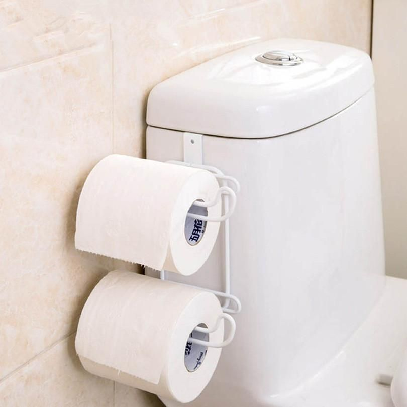 2 Layer Toilet Paper Roll Holder Bathroom Organisation Kitchen Cupboard Organization Toilet