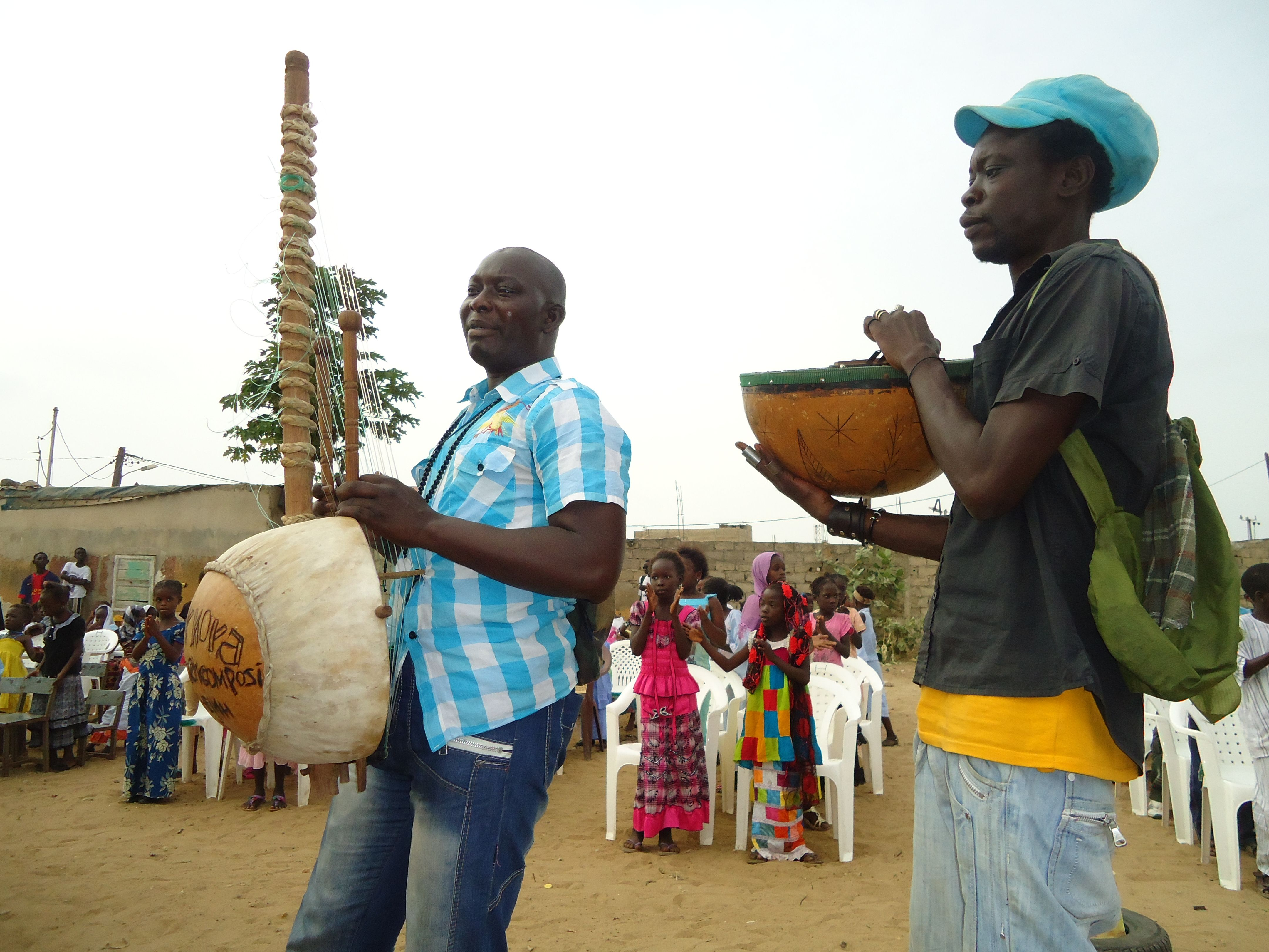 Musical welcome at an OCC distribution in June, 2013 ~ Dakar, Senegal, West Africa. Photo by B. Wittig