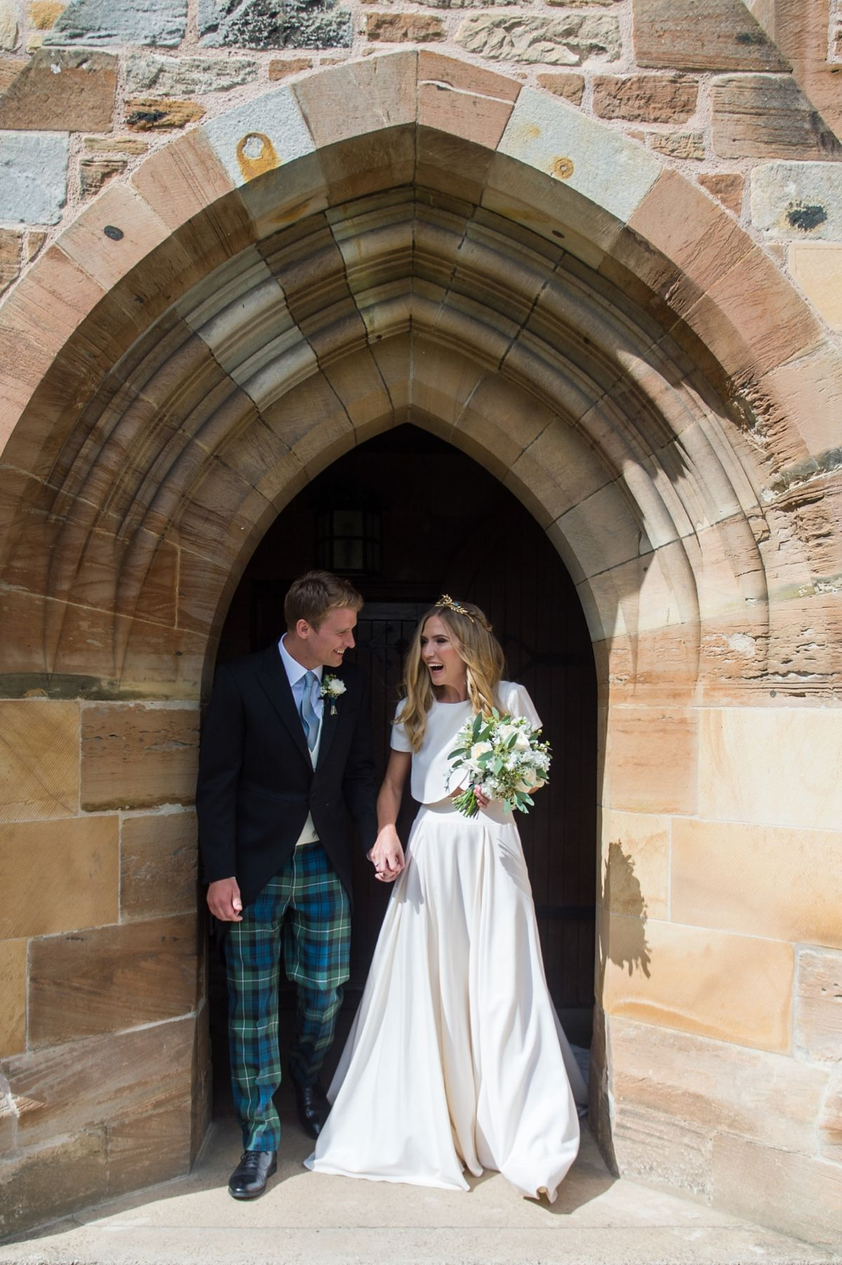 An elizabeth stuart gown for a grand scottish wedding dream