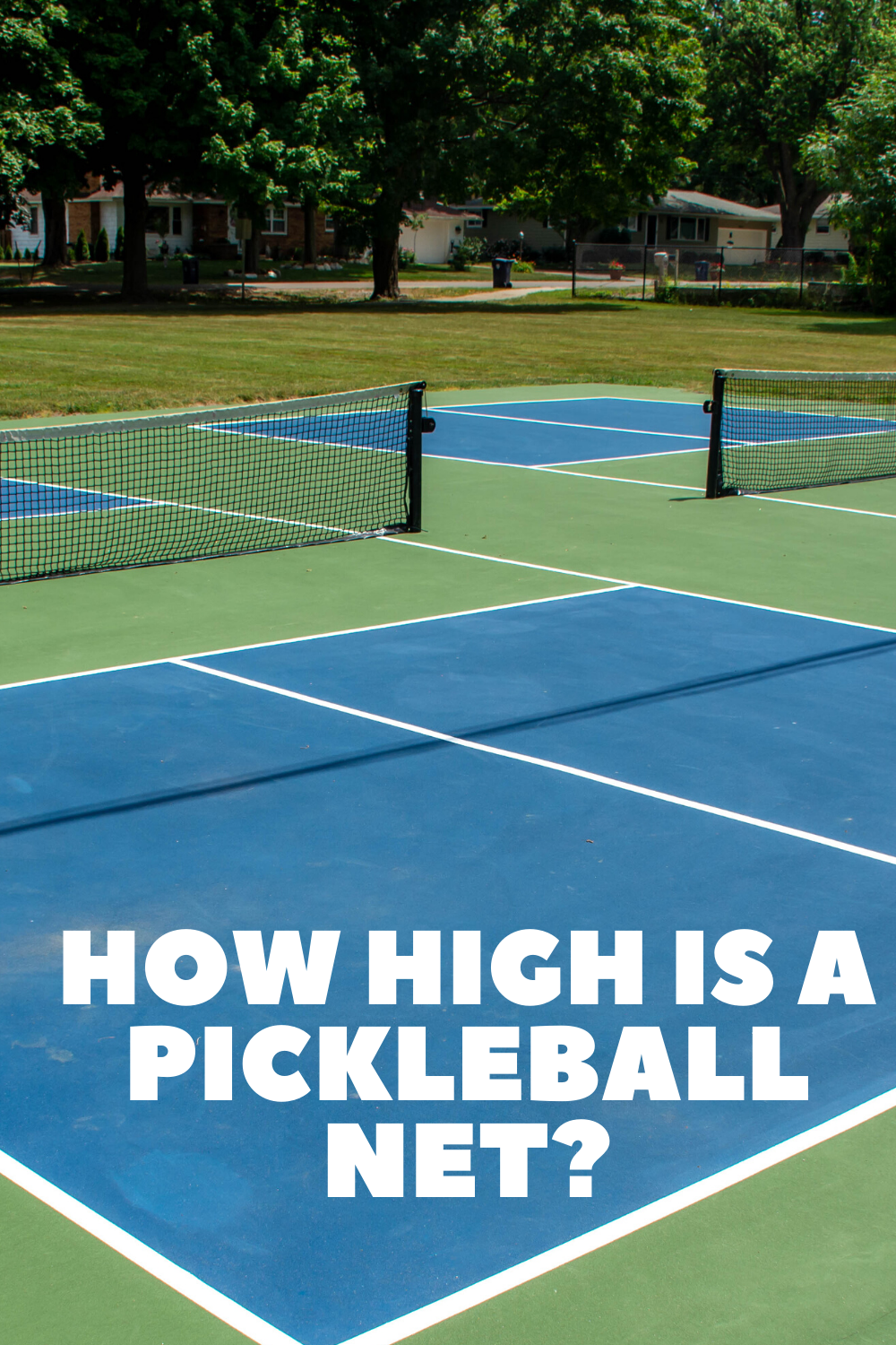 How High Is A Pickleball Net In 2020 Pickleball Net Tennis Nets
