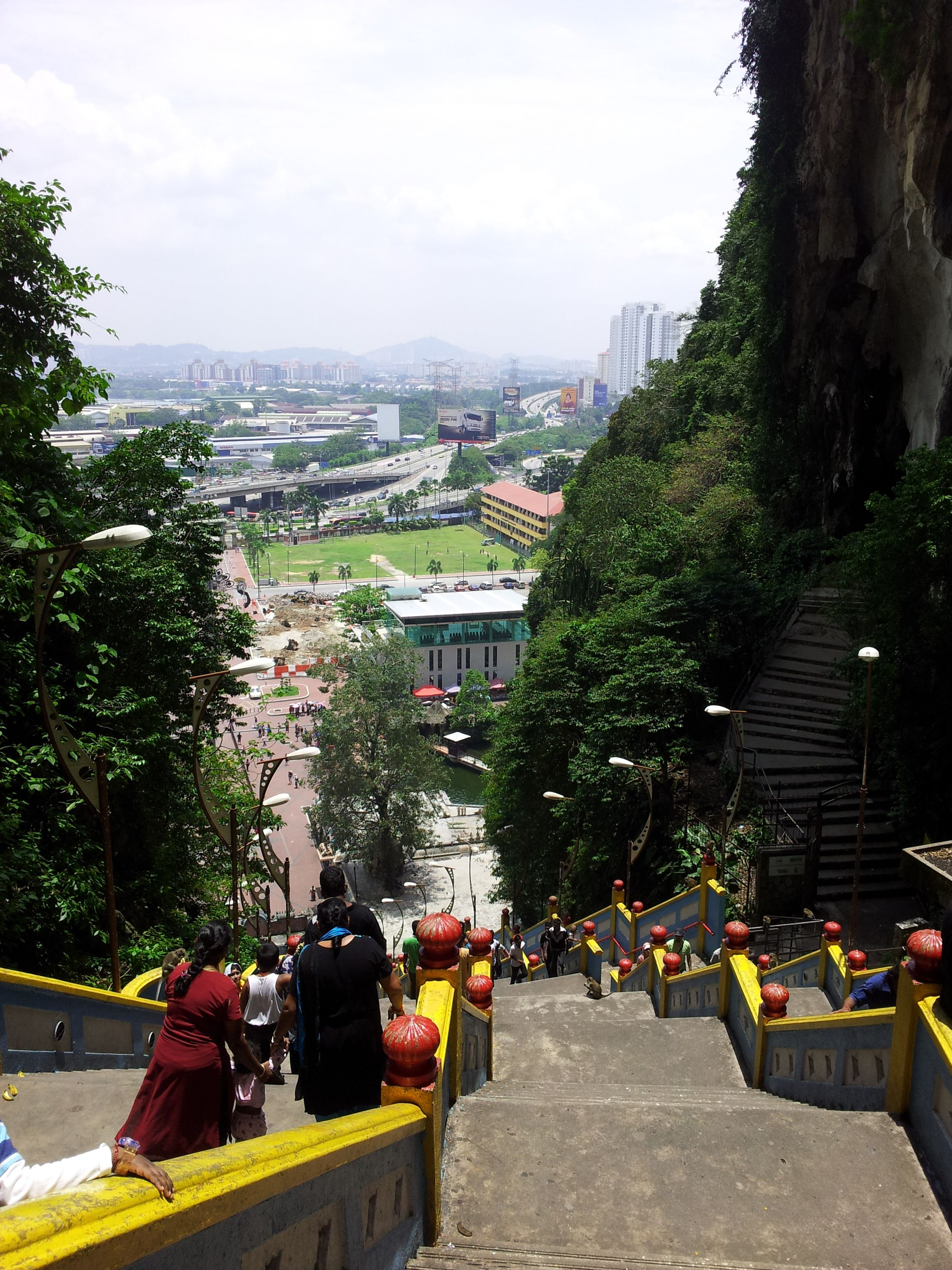 view from the top of the 247 steps - Batu Caves Kuala Lumpar