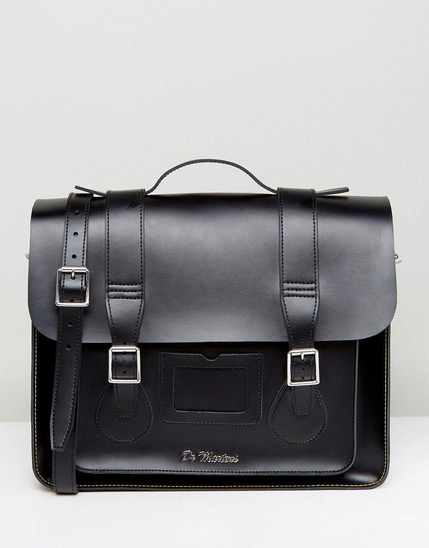 3472b27c48 Dr Martens 15 Inch Leather Satchel | bags | Leather satchel, Dr ...
