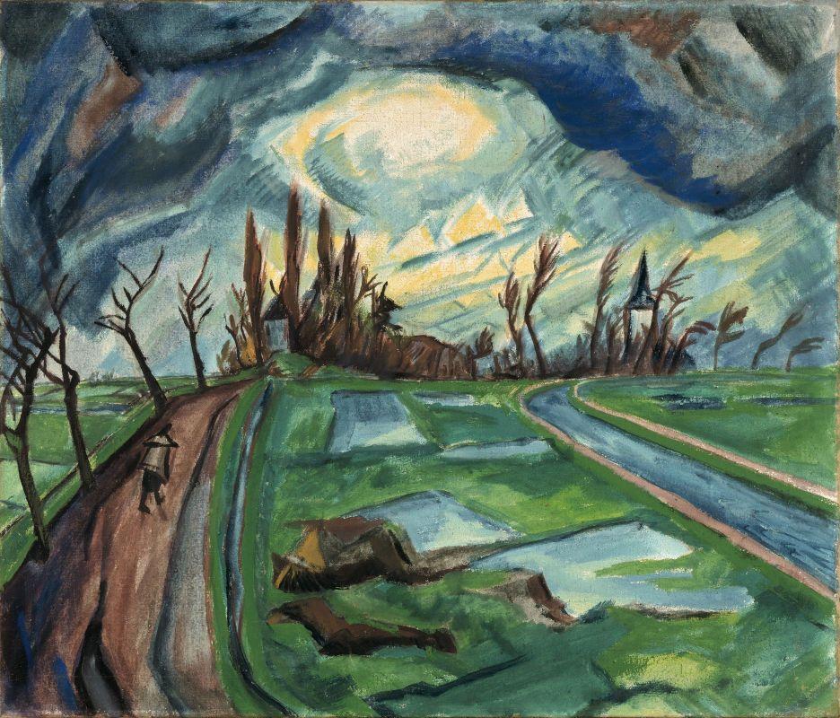 Erich Heckel-frhling In Flandern Die Brcke 2019 Painting Expressionist Artists
