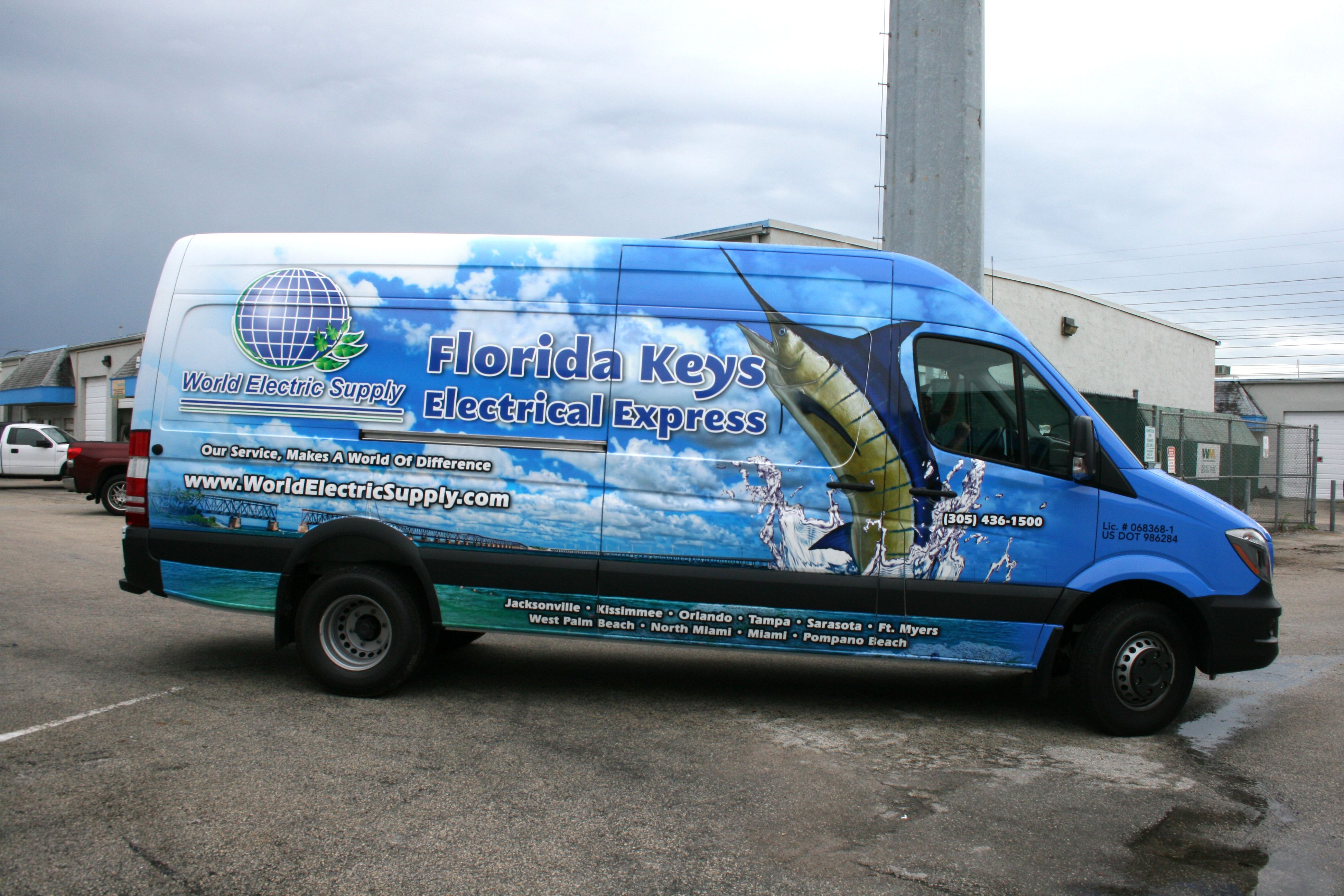 Florida Keys Mercedes Benz Sprinter Van Wrap For World Electric