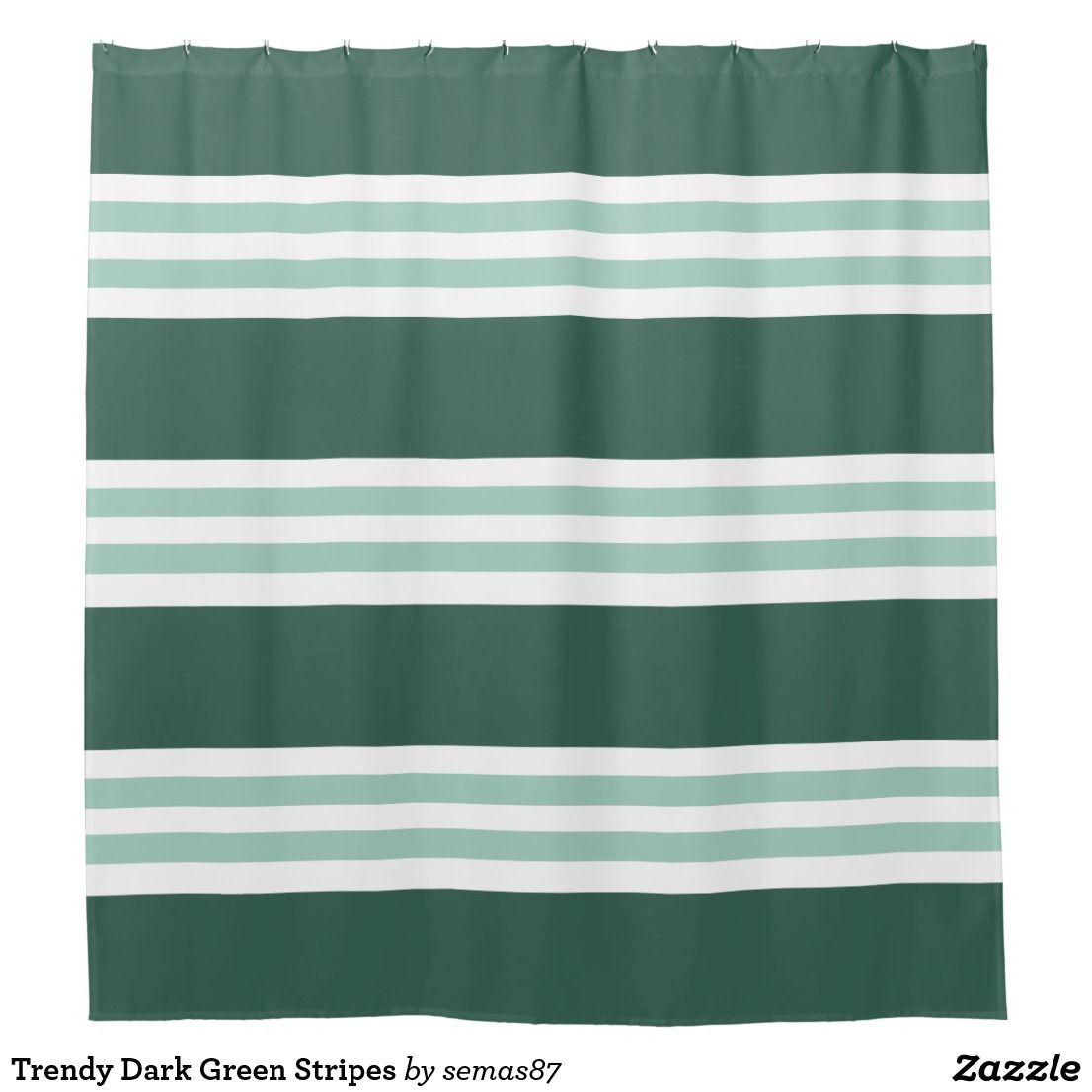 Trendy Dark Green Stripes Shower Curtain Zazzle Com Striped