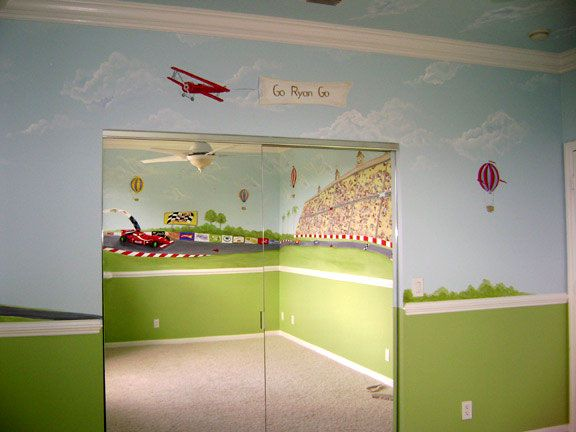Mural Kids Rooms Race Car Mural Boys Room Murals Girls