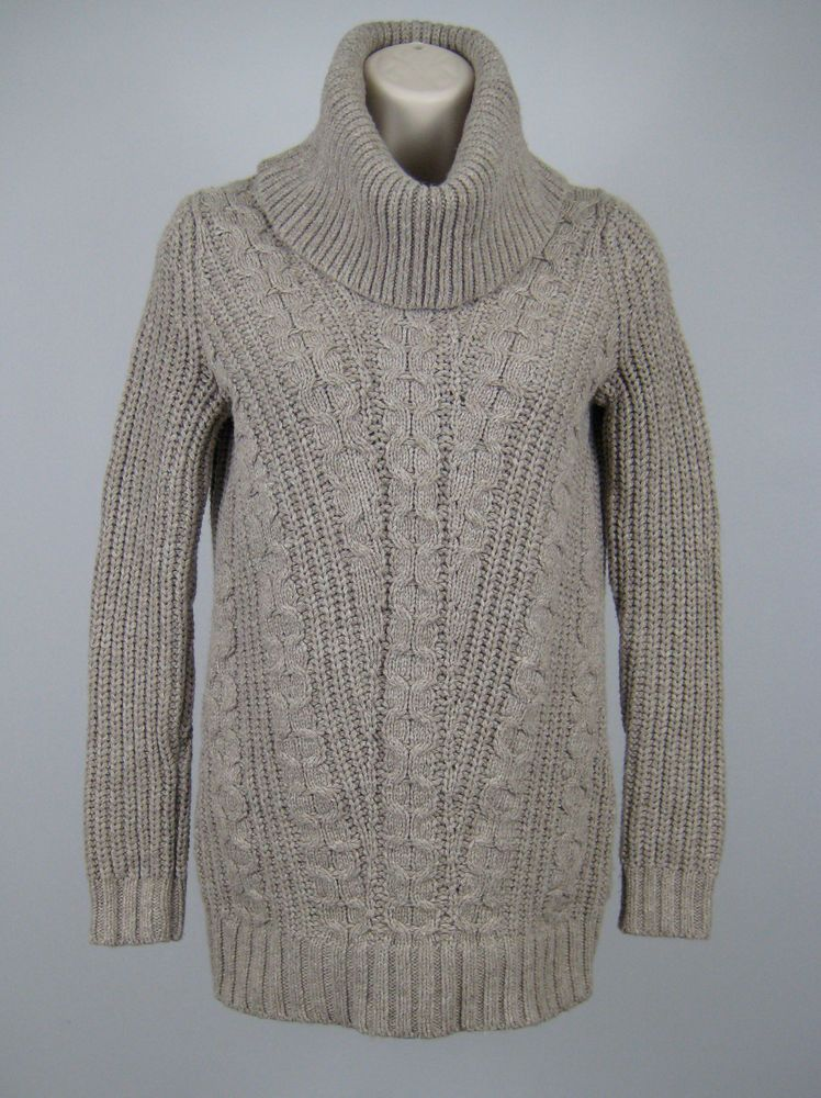 d5bd461fa5 Banana Republic Cowl Neck Sweater Women Size XS Pink Cable Knit Long Sleeve  New  BananaRepublic