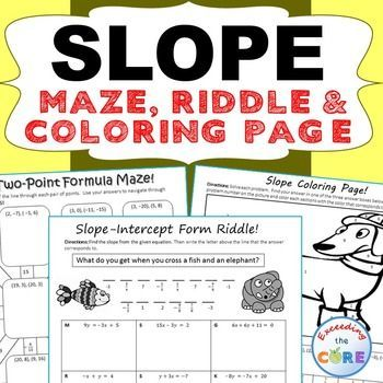 Slope Maze Riddle Color By Number Fun Math Activities