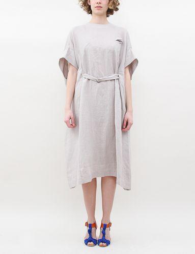 Cosmic Wonder Panel Patterned Dress-Gray