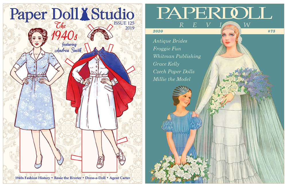 Paper Doll Magazines Spotlight the 1940s, Antique Brides