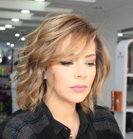 70 Brightest Medium Layered Haircuts To Light You Up Wavy Bobs