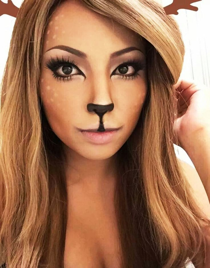 25 Deer Halloween Makeup Ideas for Women | Deer makeup, Makeup and ...