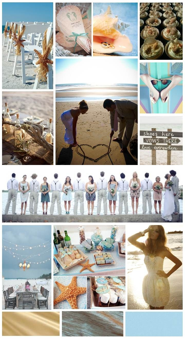 Beach wedding in texas  Design Dish  Beach Wedding inspiration board by The Simplifiers
