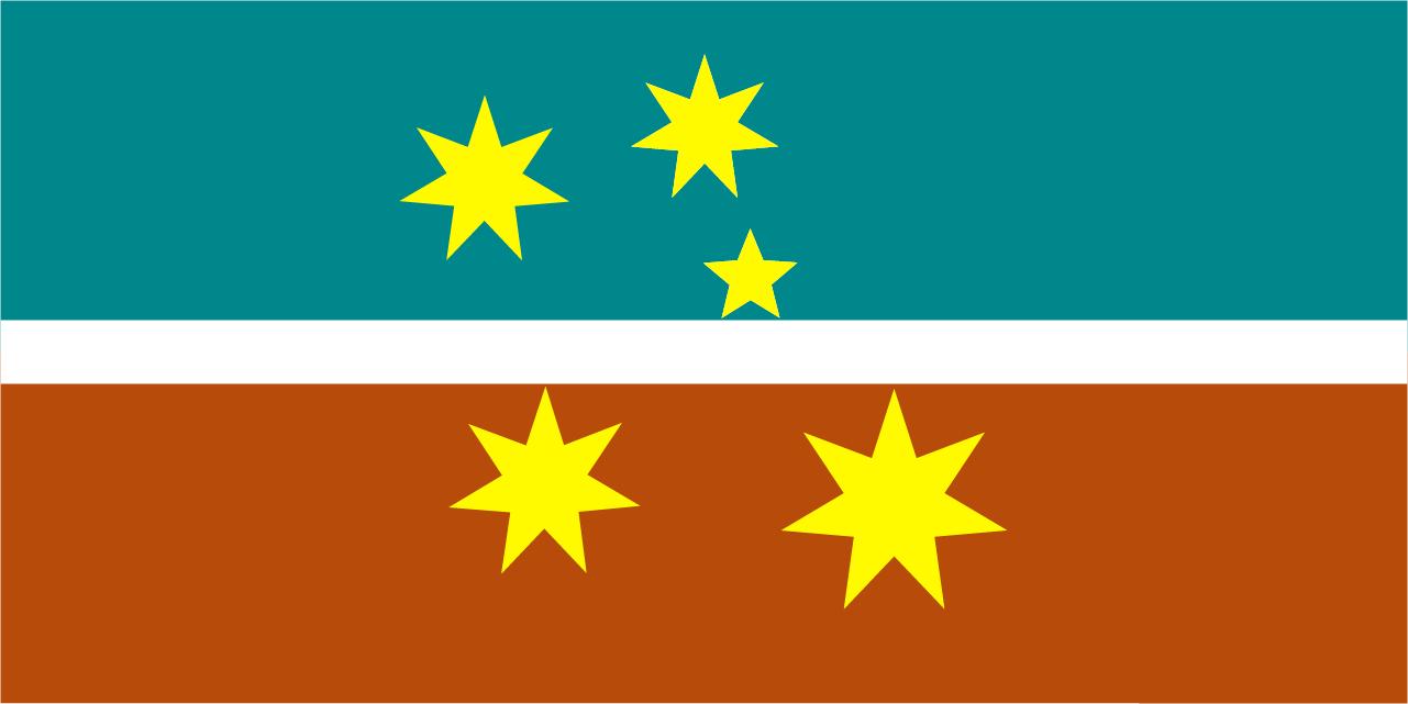 New Australian Flag Design UluruSky 18L-UluruSky-goldSCCS5L-AquaG ...