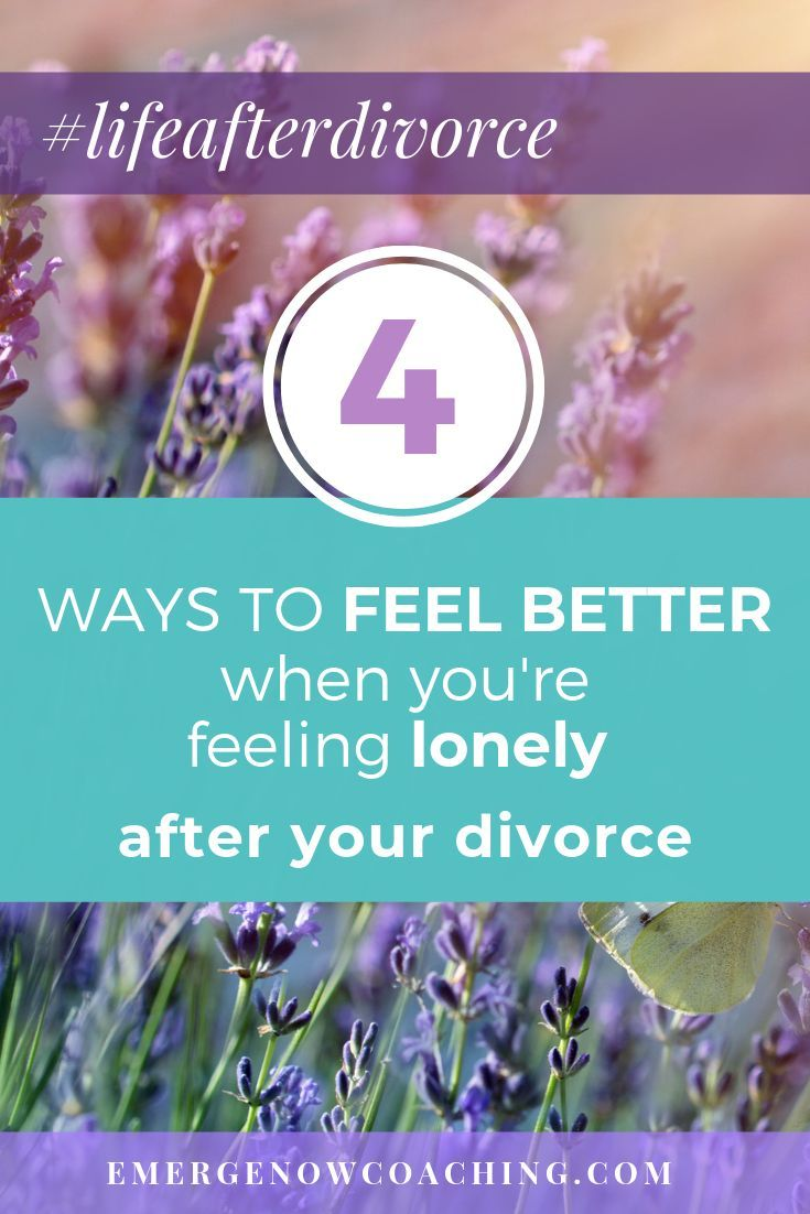 4 Strategies for Coping With Loneliness - Or Other Negative Feelings - After Your Divorce #divorce