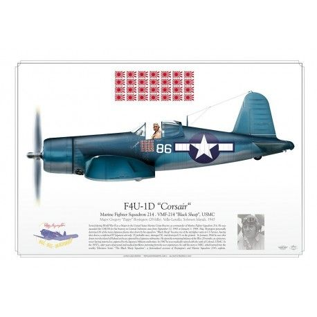 "F4U-1D ""Corsair"" VMF-214 ""Black Sheep"" JP-376"