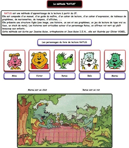Une Methode De Lecture Ratus Et Ses Amis Ratus Et Ses Amis Methode De Lecture Ratus