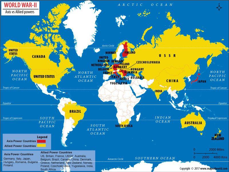 Which Countries Won World War II | Answers | World war, Axis