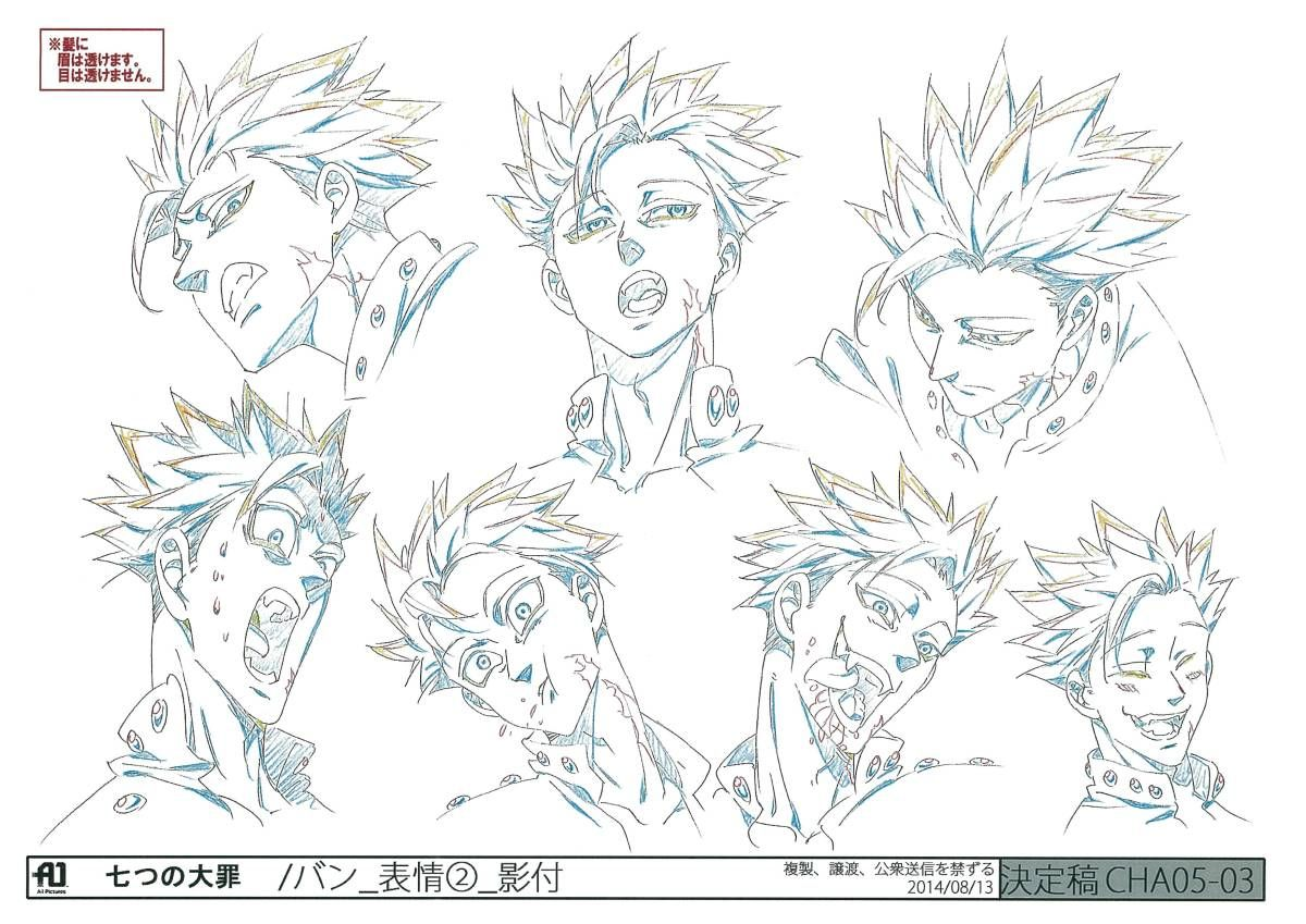 Seven deadly sins character design