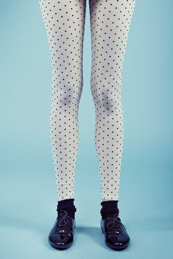 Polainas, medias, pantimedias, pies, polainas de lunares, lunares medias, Womens polainas, medias de las mujeres, en venta