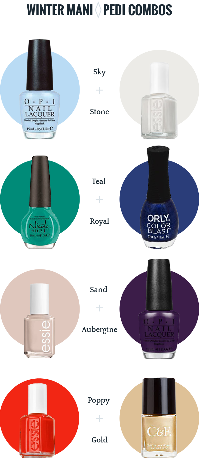 Mani pedi color combinations for winter and holidays | Nails ...