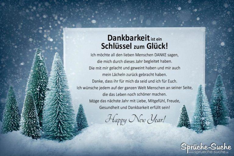Happy New Year! Dankbarkeit ist ein Schlüssel zum Glück