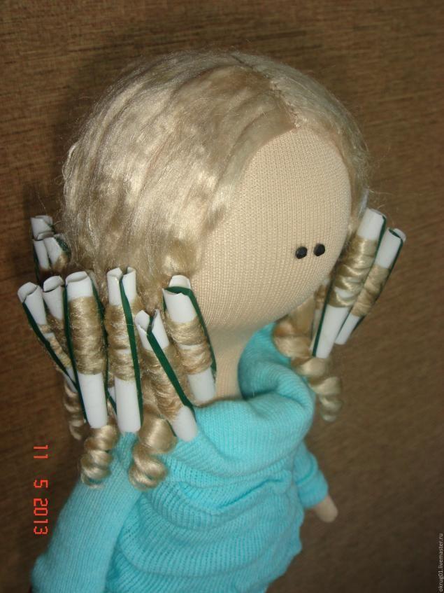 Прическа для куклы... - Ярмарка Мастеров - ручная работа, handmade