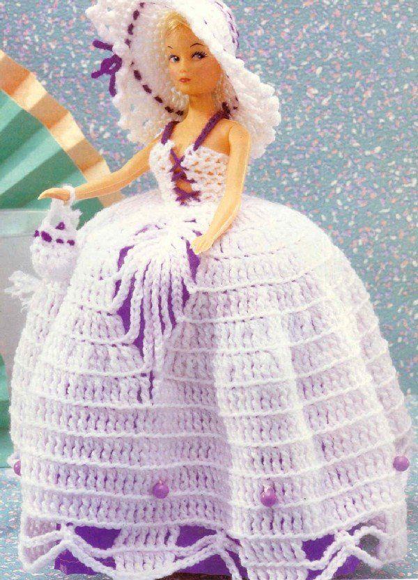 Mundo Crochet: Vestidos de Crochet para la muñeca Barbie | Barbie a ...