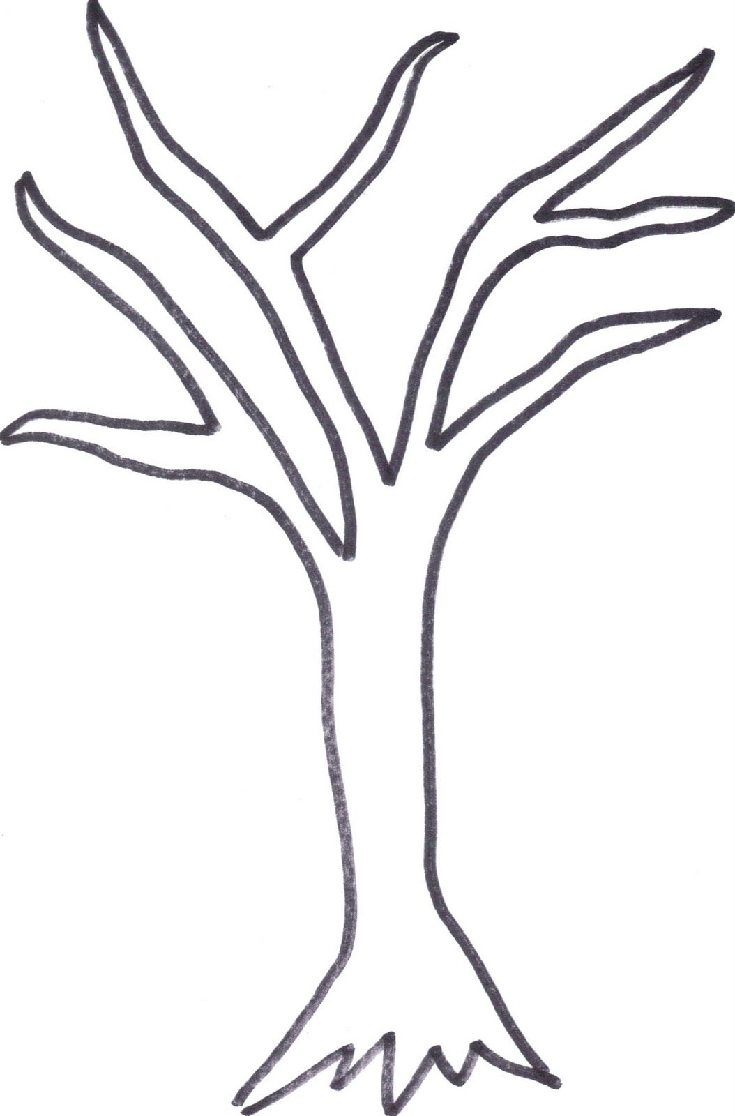printable tree trunk Here is the tree outline if anyone wants to