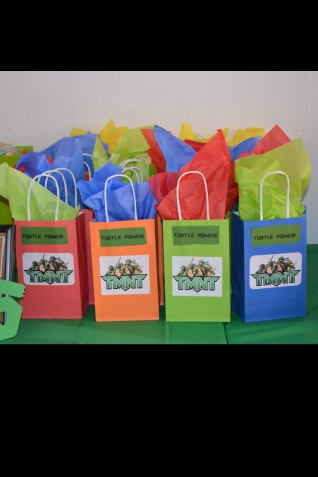 Diy Ninja Turtles Goo Bags Colored Paper From Michaels Print Out Image