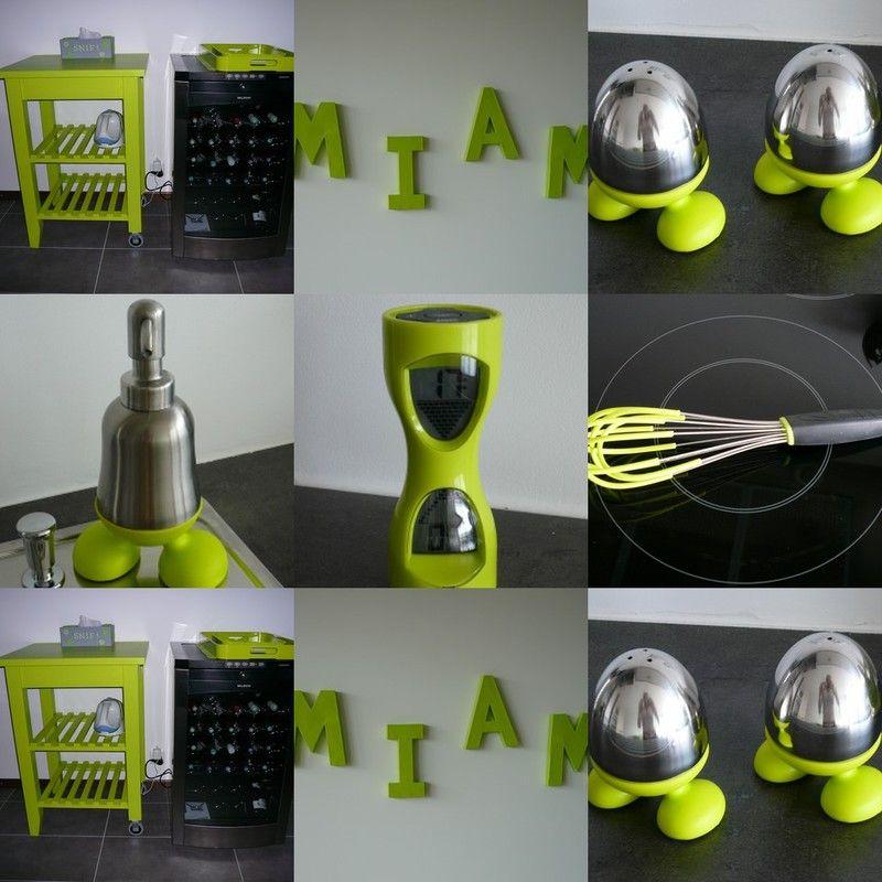 Charmant Objets Déco Vert | Objet Deco Cuisine Vert Anis : Urne De Mariage Blanche  Et Vert