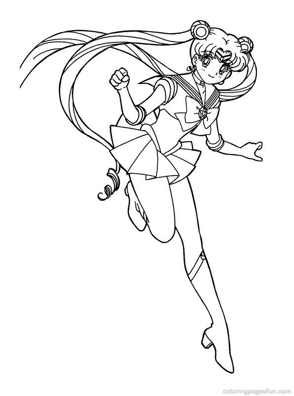 Good colouring pages website with working links. Printed Sailor Moon ...
