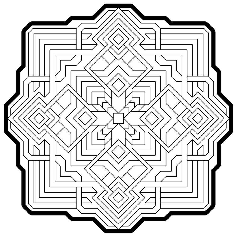 Coloring Pages Geometrical Coloring Pages 1000 images about coloring pages on pinterest
