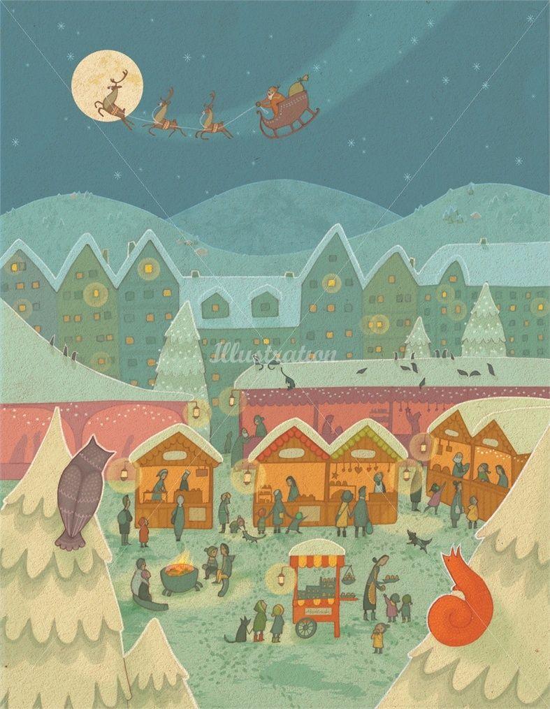 Alexandra Ball Children S Book Illustrator Arko Advent Calendar Christmas Market Illustration Book Illustration Children S Book Illustration
