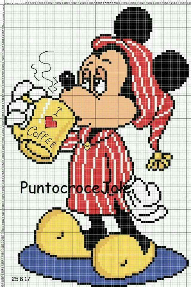 Pin de Maria Isabel en Disney | Pinterest | Punto de cruz, Puntos y ...