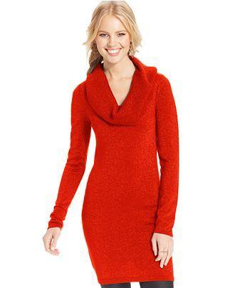 Energie Juniors  Metallic Cowl-Neck Sweater Dress - Juniors Juniors  Sale    Clearance - Macy s f37248a4b