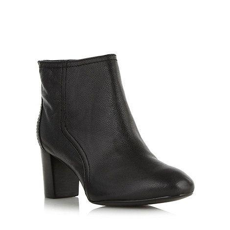 49 Principles by Ben de Lisi Designer black leather mid heel ankle boots-  at Debenhams