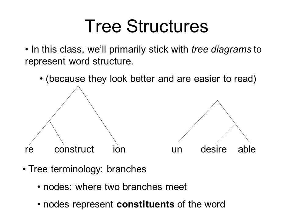 Linguistic Morp Tree Diagram Of Word Structure Tree Diagram Linguistics