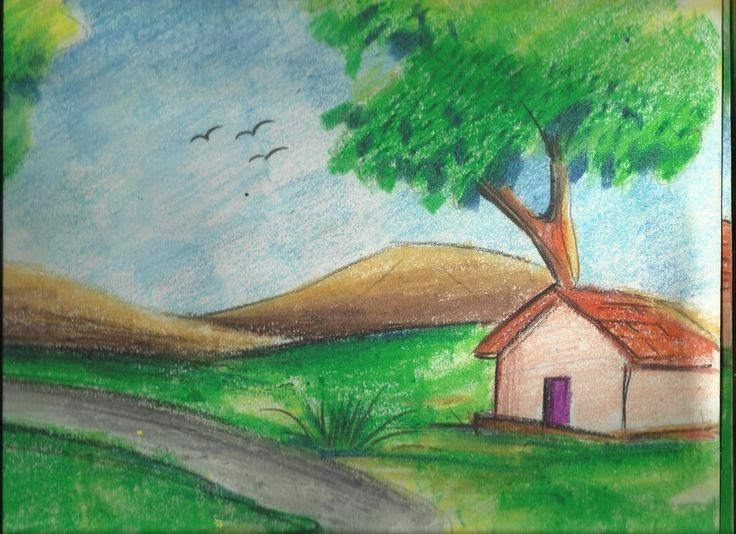 Found On Google From Pinterest Com Easy Scenery Drawing Drawing Scenery Beautiful Scenery Drawing