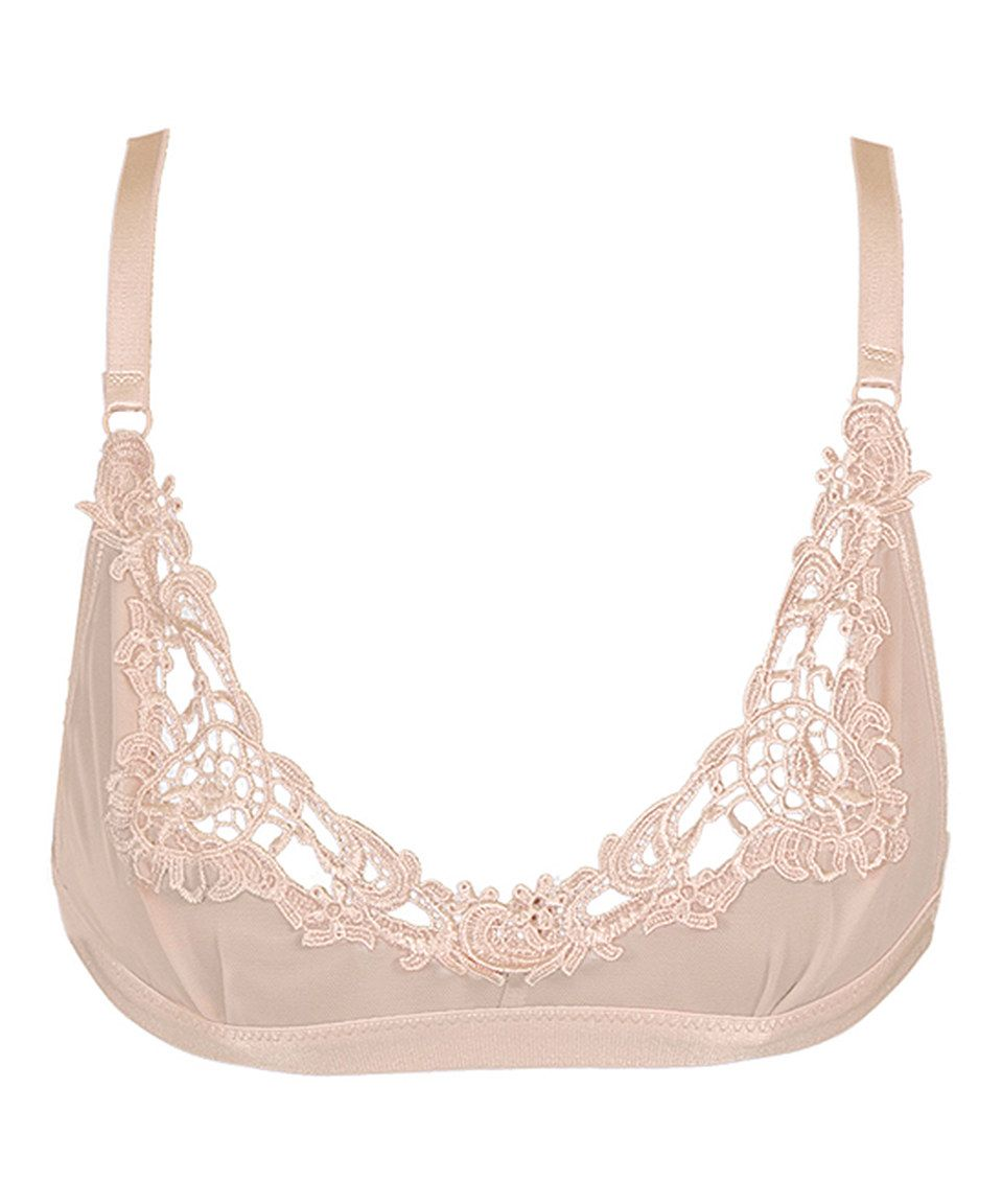 ddc8a93066 Take a look at this Nude Embroidered Shelf Bralette today!