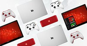 Xbox One S, Microsoft Surface Pro 4 and JBL portable speaker
