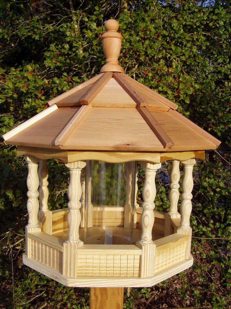 Large Gazebo Bird Feeder  Spindle type Amish Handcrafted Handmade wood  handmade