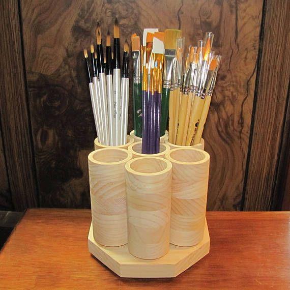 7 Cup Desktop Rotating Colored Pencil Storage Holder