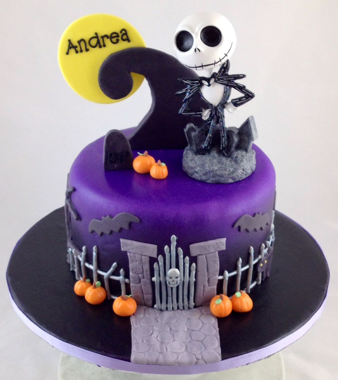 Jack Skellington Halloween Cake! Fondant cakes, Cake