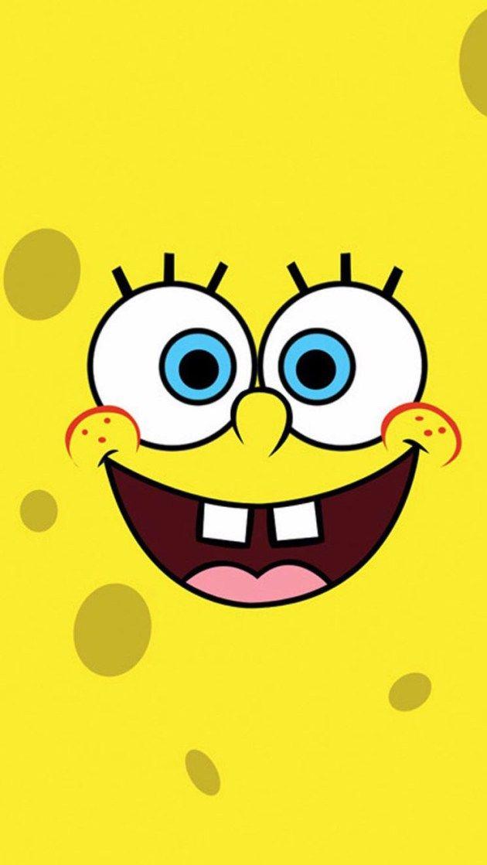 スポンジボブのどアップ iPhone壁紙 Wallpaper Backgrounds iPhone6/6S and Plus SpongeBob  SquarePants
