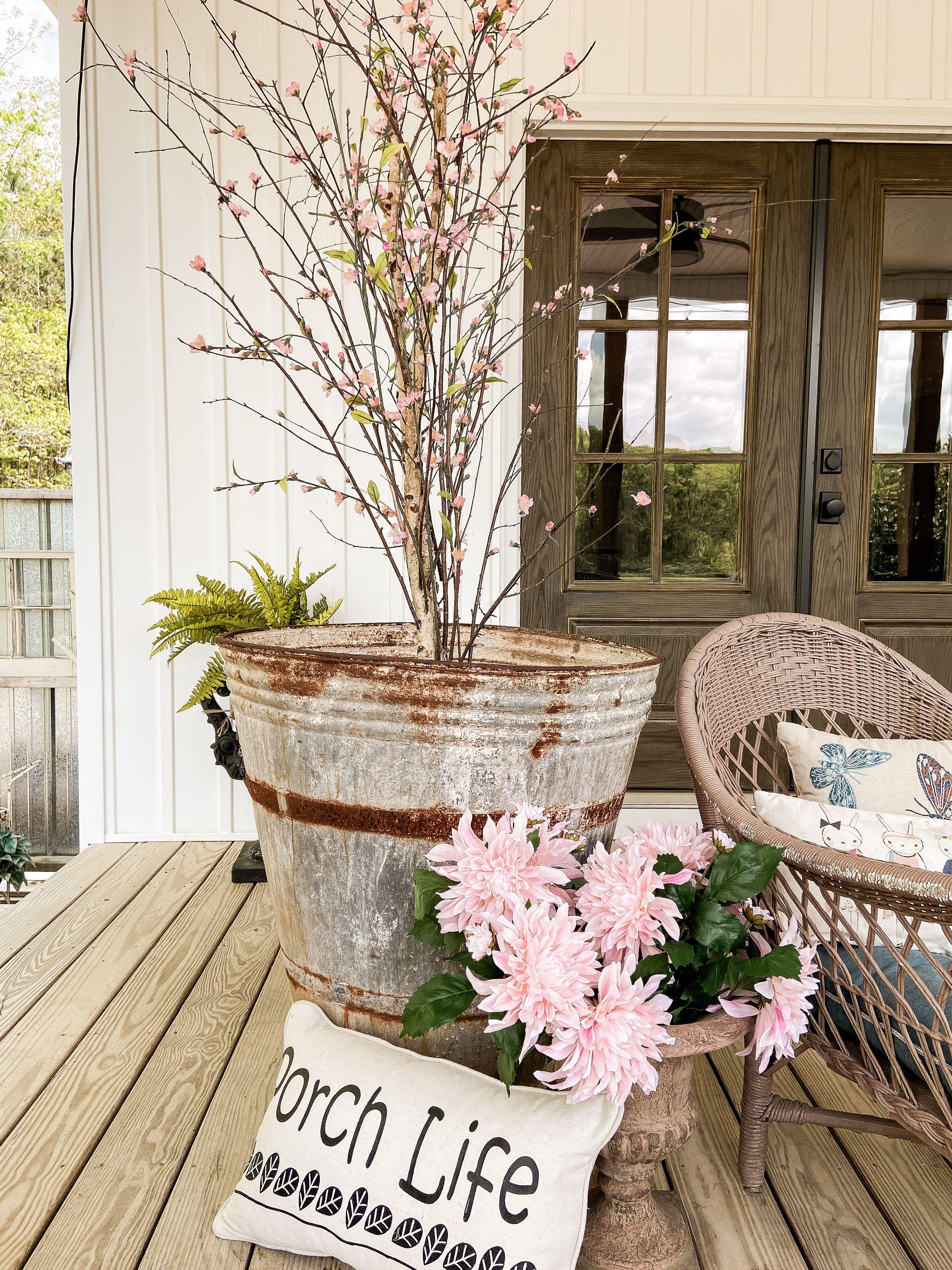 DIY Cherry Blossom Tree. Repurposed from a ficus tree.   Ficus ...